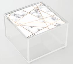 Marble Geometry Acrylic Box