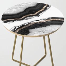 Agate Glitter Glam Side Table