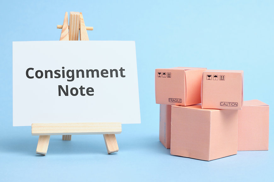 Courier Industry Term Consignment Note.