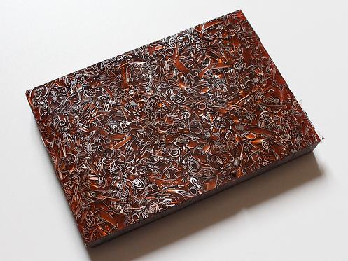 Plaque de Cristallium® copeaux d'aluminium rouge