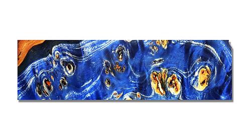 Loupe de peuplier stabilisée Bleu Marine