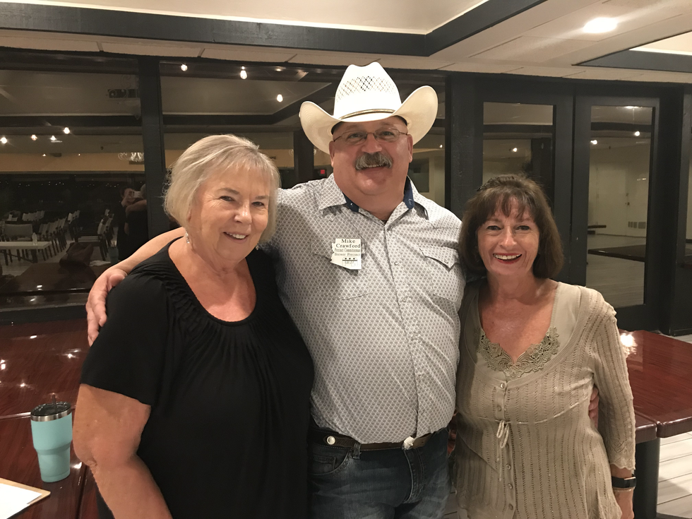 Mike Crawford with two voters from Sun Lakes.