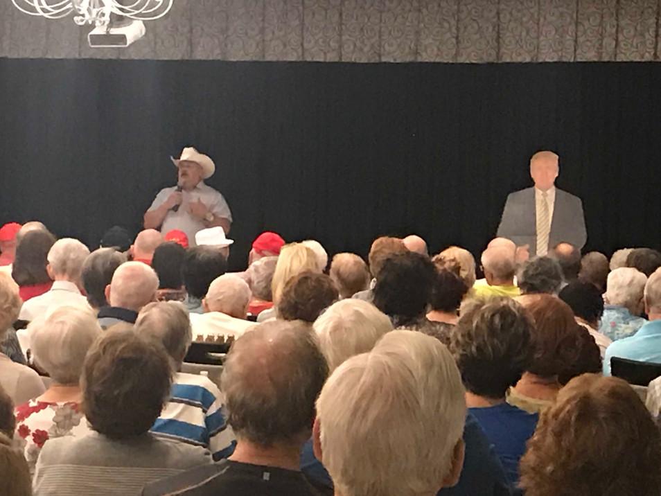Mike Crawford speaking at Sun Lakes