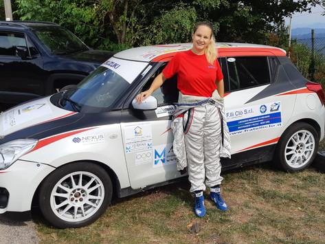 Beatrice Piffero di Admina pilota al Rally del Rubinetto