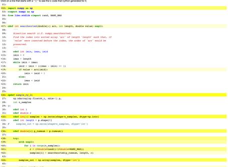 Cython Examples: Random Sampling and Latent Dirichlet Allocation