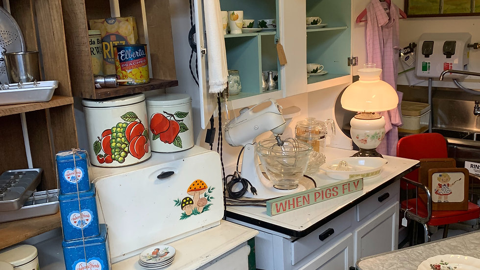 Vintage Antique Kitchen Collectibles starting @