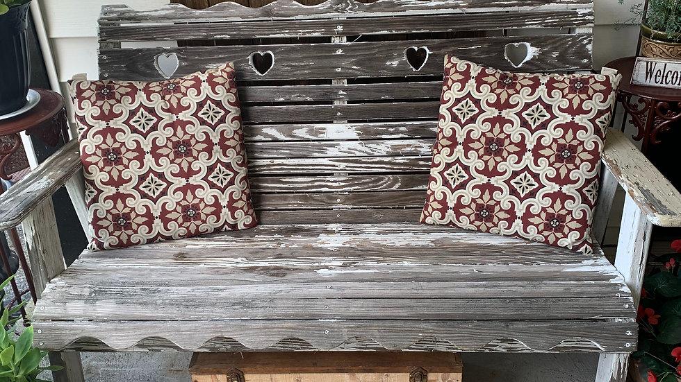 Antique outdoor bench