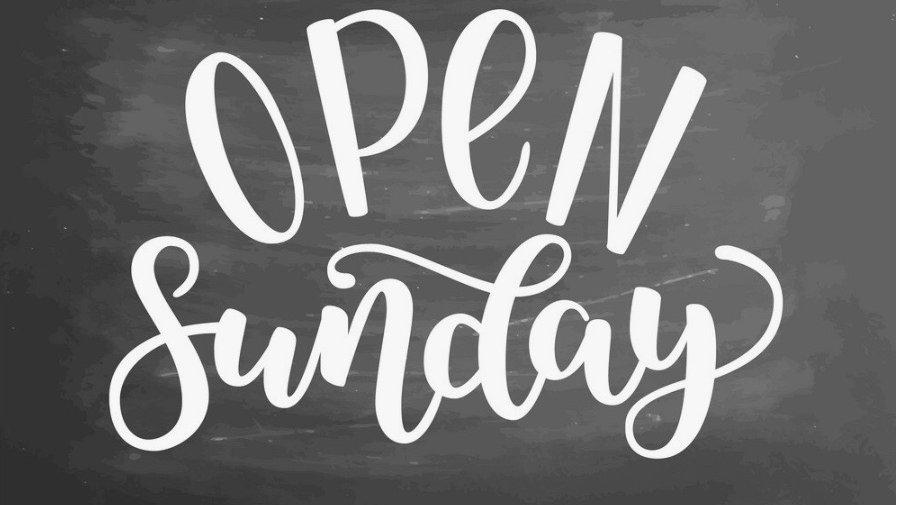Open Sunday 1-4.