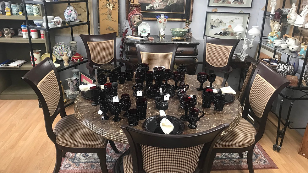 Ruby Red Cape Cod Dishes and Accessories Starts @