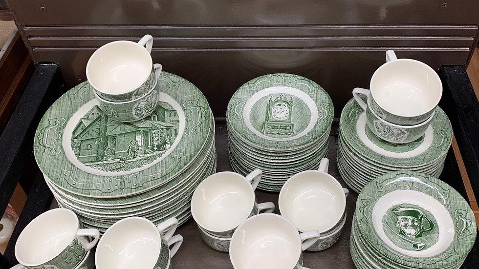 Old Curiosity Shop Dinnerware 70 Pieces