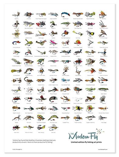 flyfishing poster art