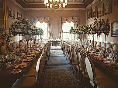 Haigh Hall Flower Bombs in Dining Room.j