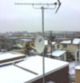 札幌市白石区BSアンテナ取付工事
