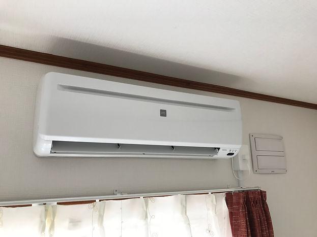 江別市エアコン取り付け工事