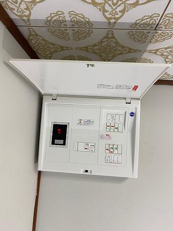 分電盤取替とエアコンコンセント工事