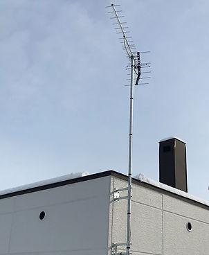 札幌市内テレビアンテナ設置工事