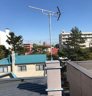 テレビアンテナ取付工事