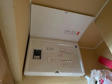 エアコン専用電気配線の分電盤交換工事