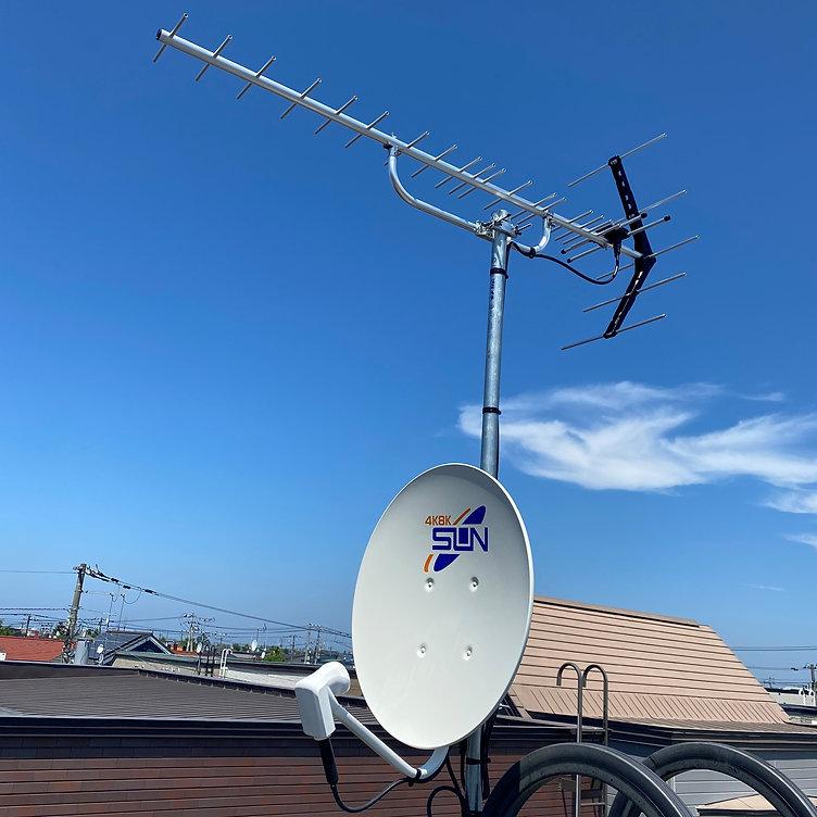 札幌市でテレビアンテナ・地デジアンテナ修理交換工事は(株)太内田電設