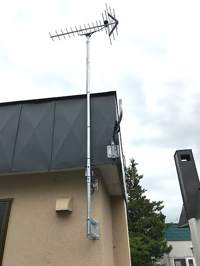 アンテナ工事、札幌市西区
