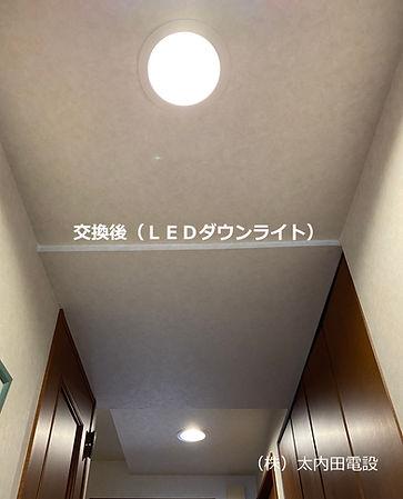 LEDダウンライト取替工事