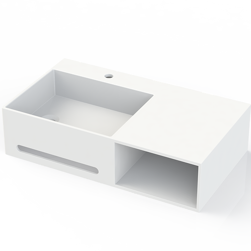 Pure Basin with Open Carbinet