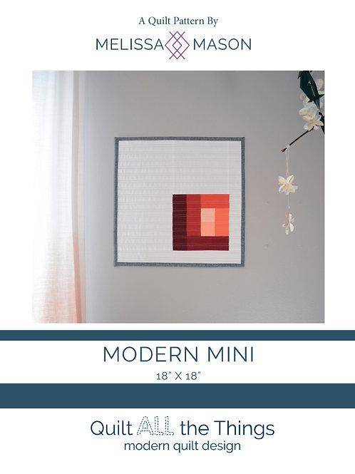 Modern Mini Class Quilt Pattern