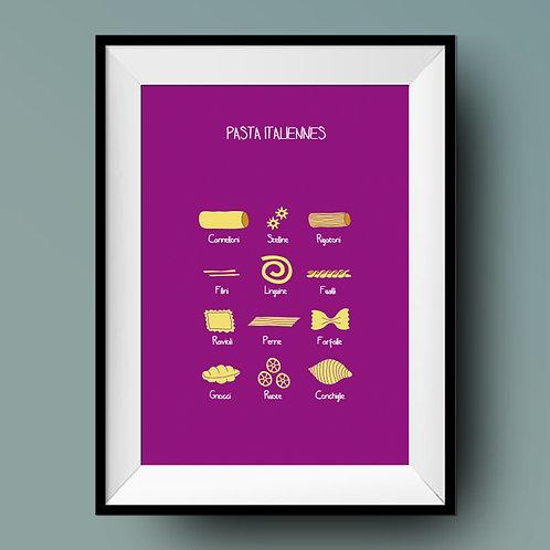 Affiche de cuisine / Pasta