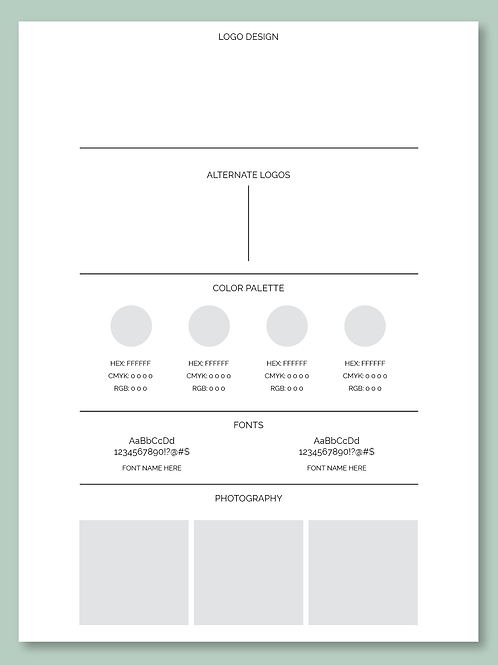 Customizable Brand Visual Identity Overview