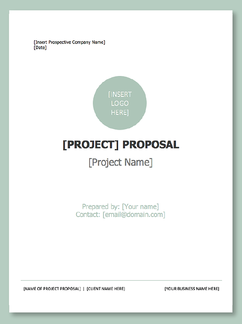 Customizable Project Proposal Document