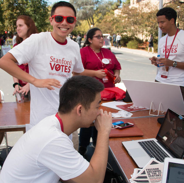 Thanks to StanfordVotes, thousands of students have registered for the midterm election