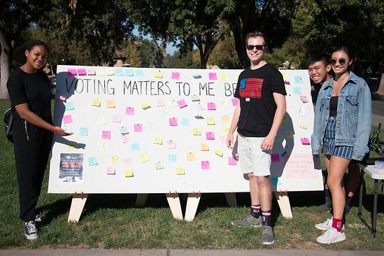 StanfordStudentsWithWhyVotingMattersSign