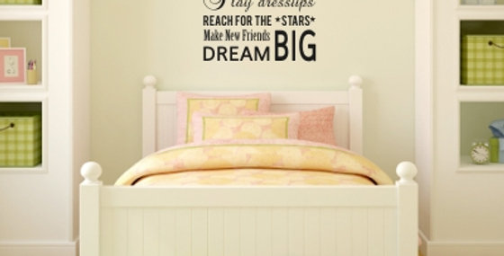 Girls Dreams Wall Quote