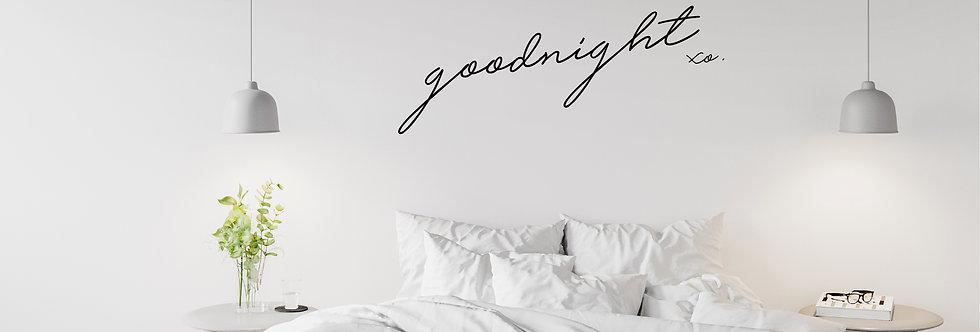 goodnight xo. decal