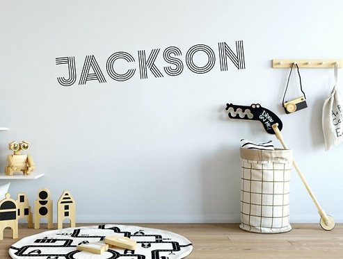 Custom Name-it Decal - Style Jackson