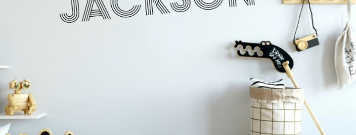 Custom Name-it Decal - Style Jackson