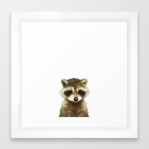 Little Raccoon - Amy Hamilton FRAMED print