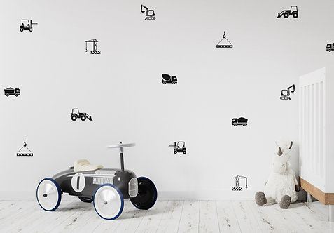 Mini Construction Wall Decals