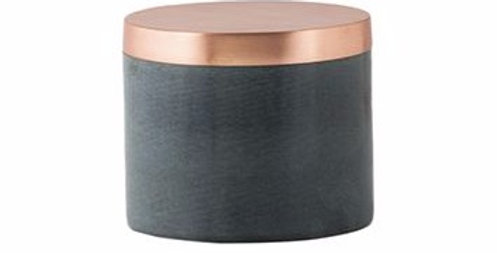 General Eclectic Large Grey Marble Canister