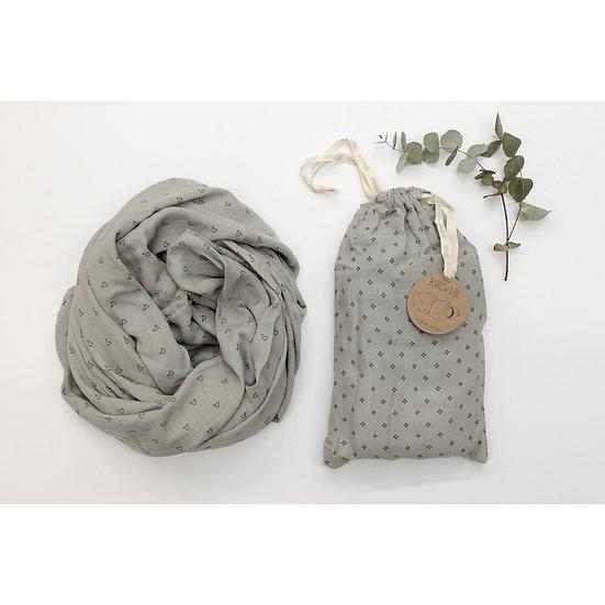 Wilder Garden Muslin Wrap - Grey