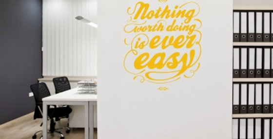 Worth Doing Wall Quote