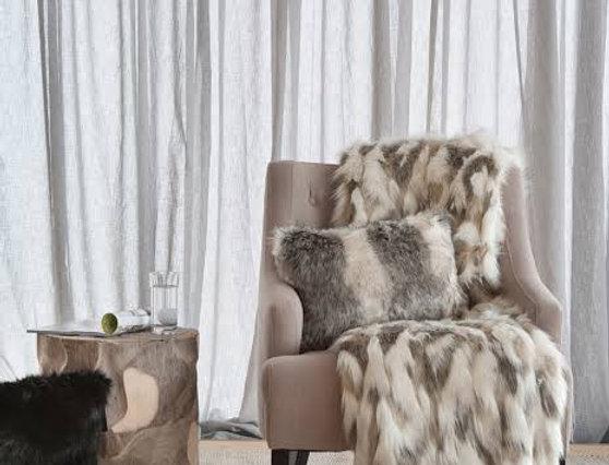 HEIRLOOM Snowshoe Hare Faux Fur Throw