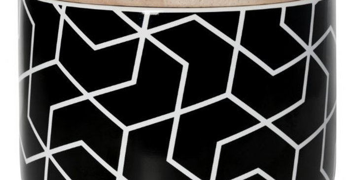 General Eclectic Small Canister - Spiral Hex Black