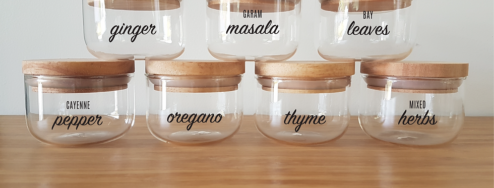 ORDERLY Custom Herb & Spice Decal Labels