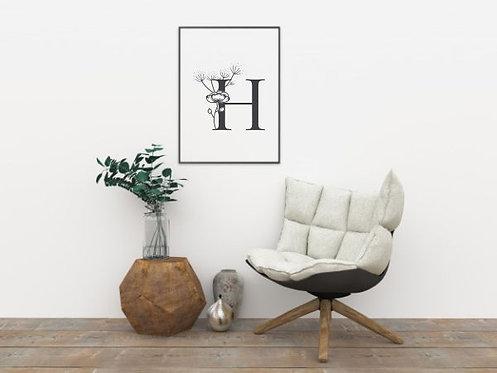 H - Download & Print