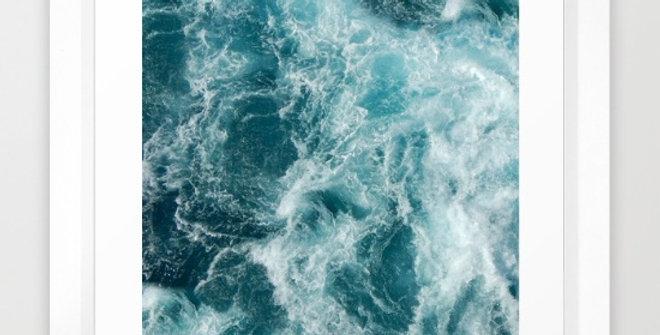 Sea- by Vickn FRAMED print