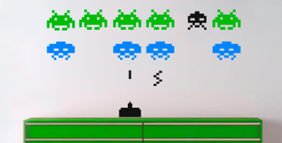 Space Invader Decals