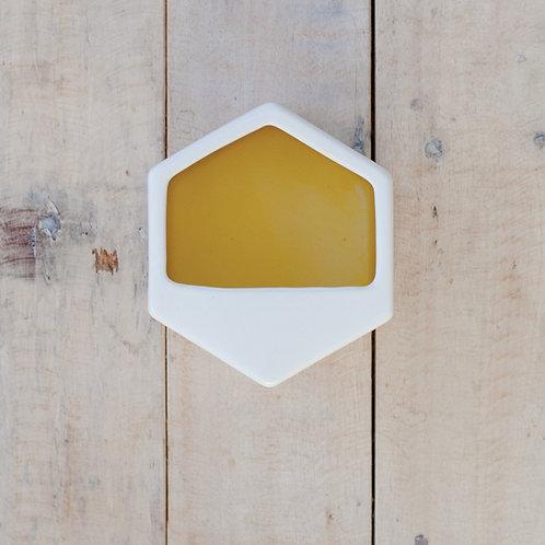 Hexagon Wall Planter - Yellow/White (Small)
