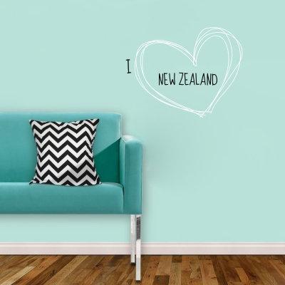 I heart NZ Decal