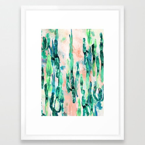 Sunset Cactus - by Nikkistrange FRAMED print
